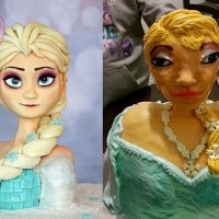Massive birthday cake fail for Frozen's Elsa