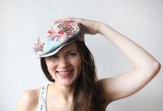floral cap girl