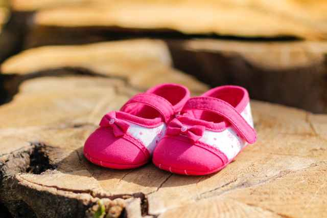 baby s pink flats